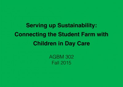 Serving Up Sustainability at Campus Daycare