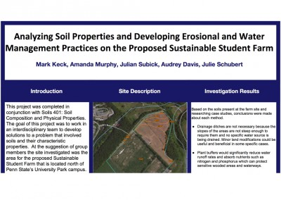 Soils Analysis of Proposed Site